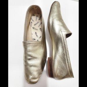 Vintage Krause Originals Gold Metallic Flats sz 7